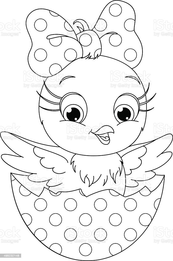 Chicken Coloring Page Stock Vector Art 495232148 Istock Chicken Coloring Page