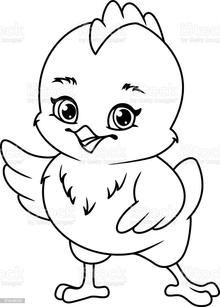 Ilustración De Página Para Colorear De Pollo Y Más Vectores Libres