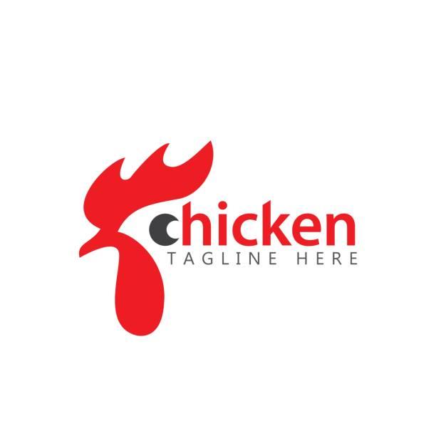 bildbanksillustrationer, clip art samt tecknat material och ikoner med kyckling företaget logo vector mall design illustration - chicken