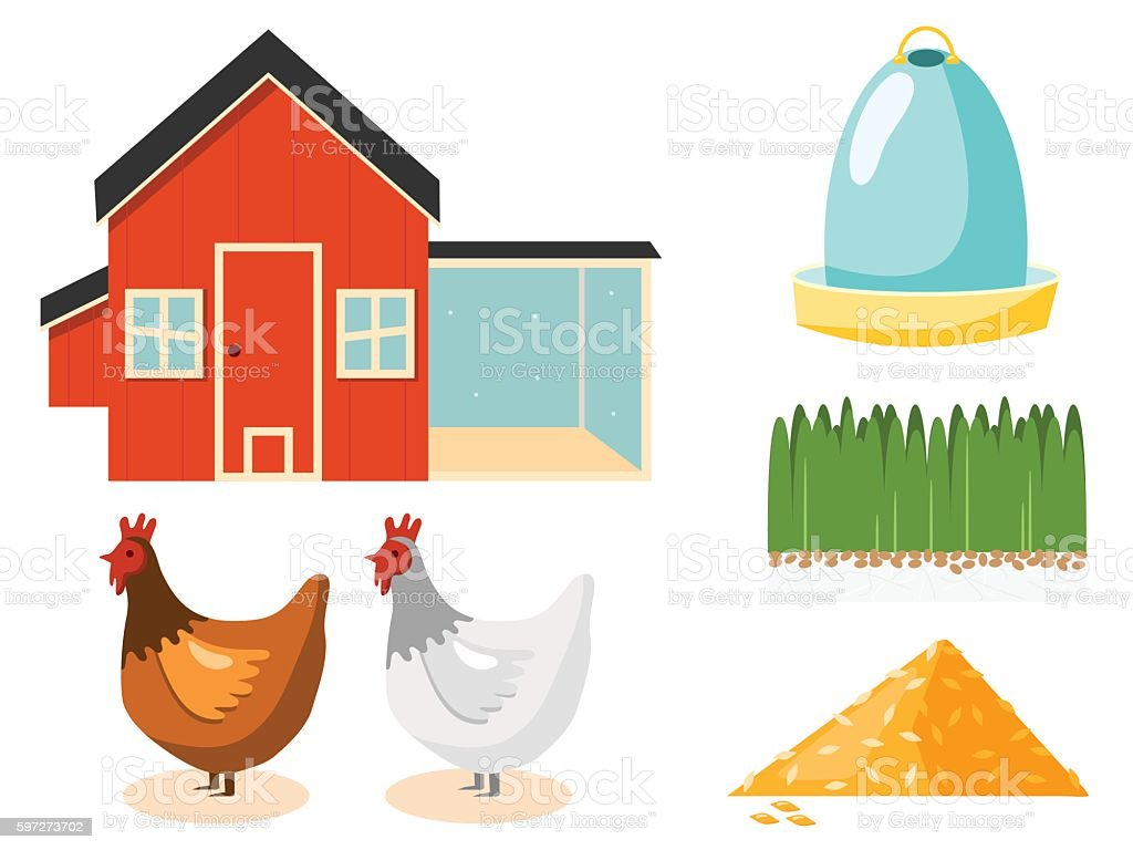 Chicken Coop vector illustration royalty-free chicken coop vector illustration stock vector art & more images of animal