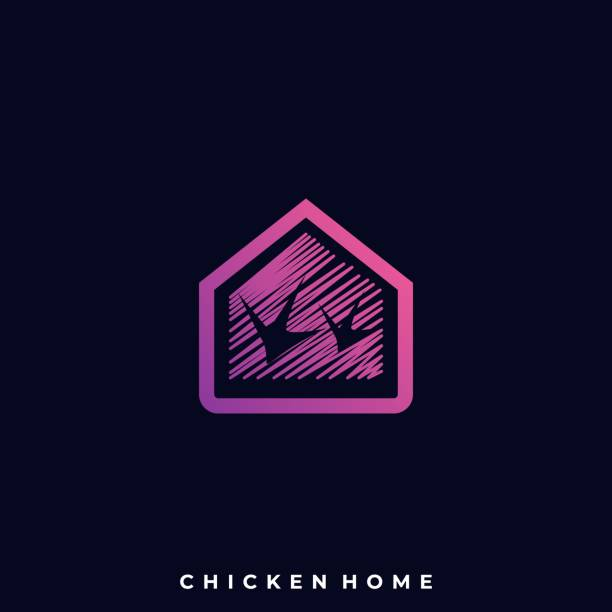 Chicken Home Illustration Vector Template Chicken Home Illustration Vector Template. Suitable for Creative Industry, Multimedia, entertainment, Educations, Shop, and any related business. amphibians stock illustrations