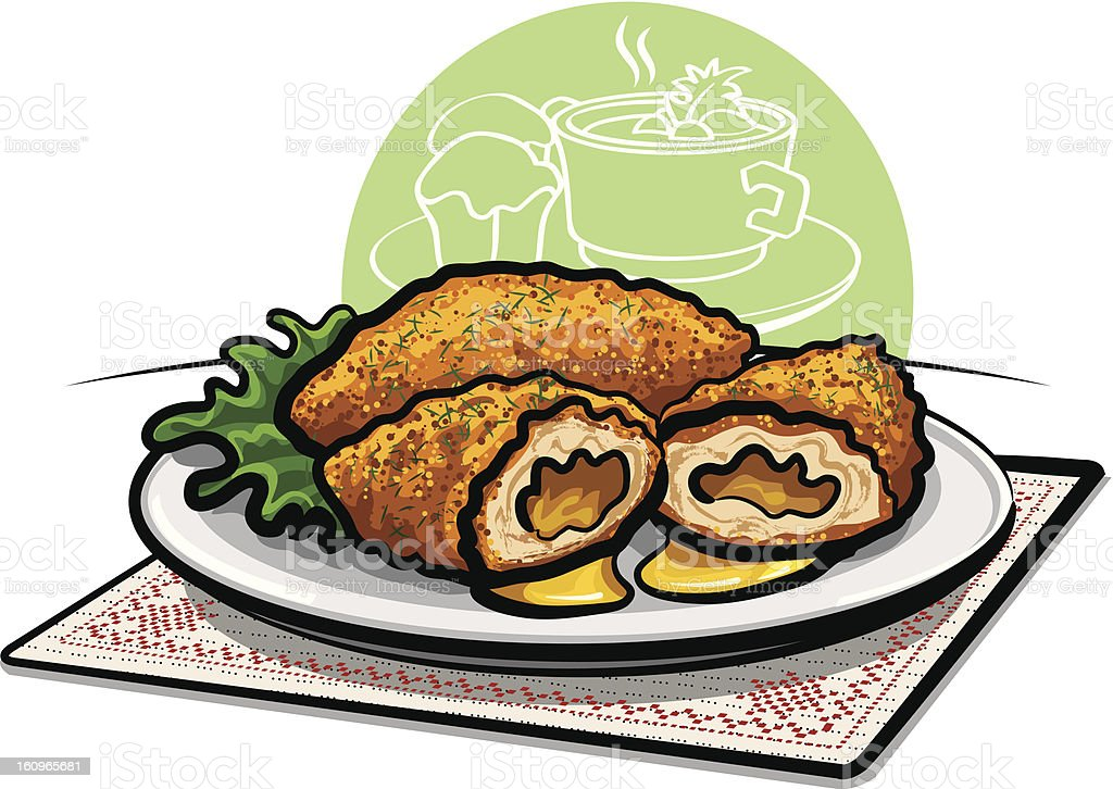chicken kiev cutlet royalty-free chicken kiev cutlet stock vector art & more images of appetizer