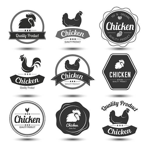 huhn-etikett 4 - eizelle stock-grafiken, -clipart, -cartoons und -symbole