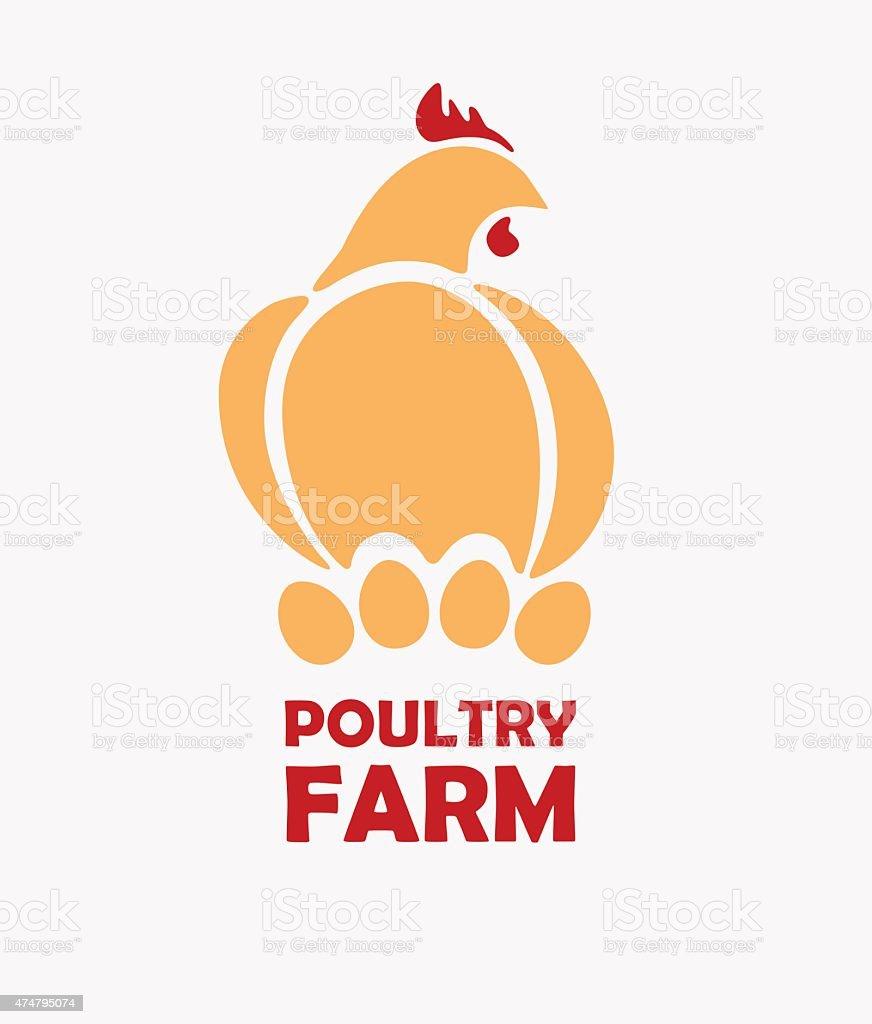 Chicken logo design template vector art illustration