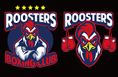 Chicken mascot of boxing club