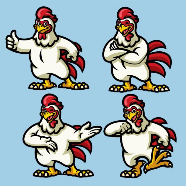 bildbanksillustrationer, clip art samt tecknat material och ikoner med kyckling maskot - chicken