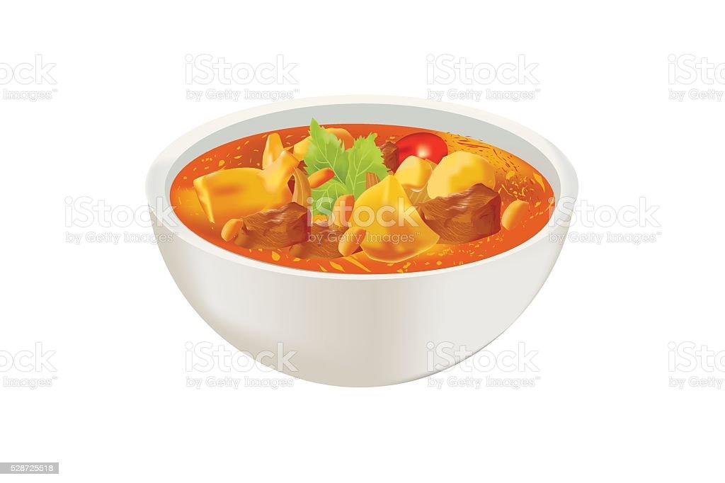 Curry de poulet Mussaman - Illustration vectorielle