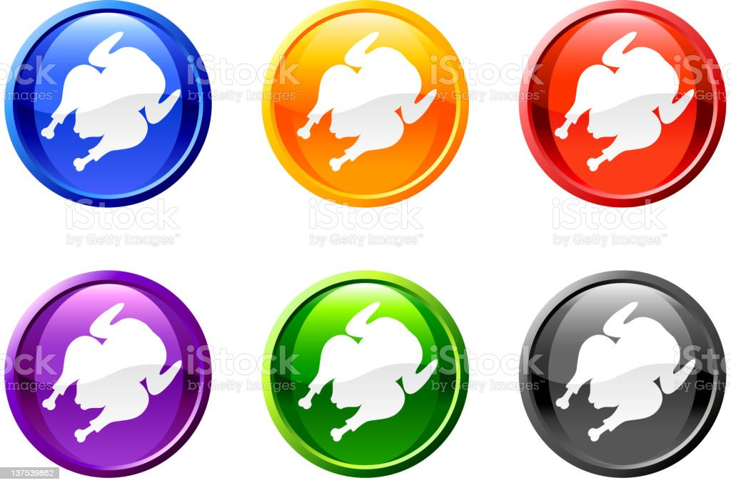 Chicken plate button royalty free vector art royalty-free stock vector art