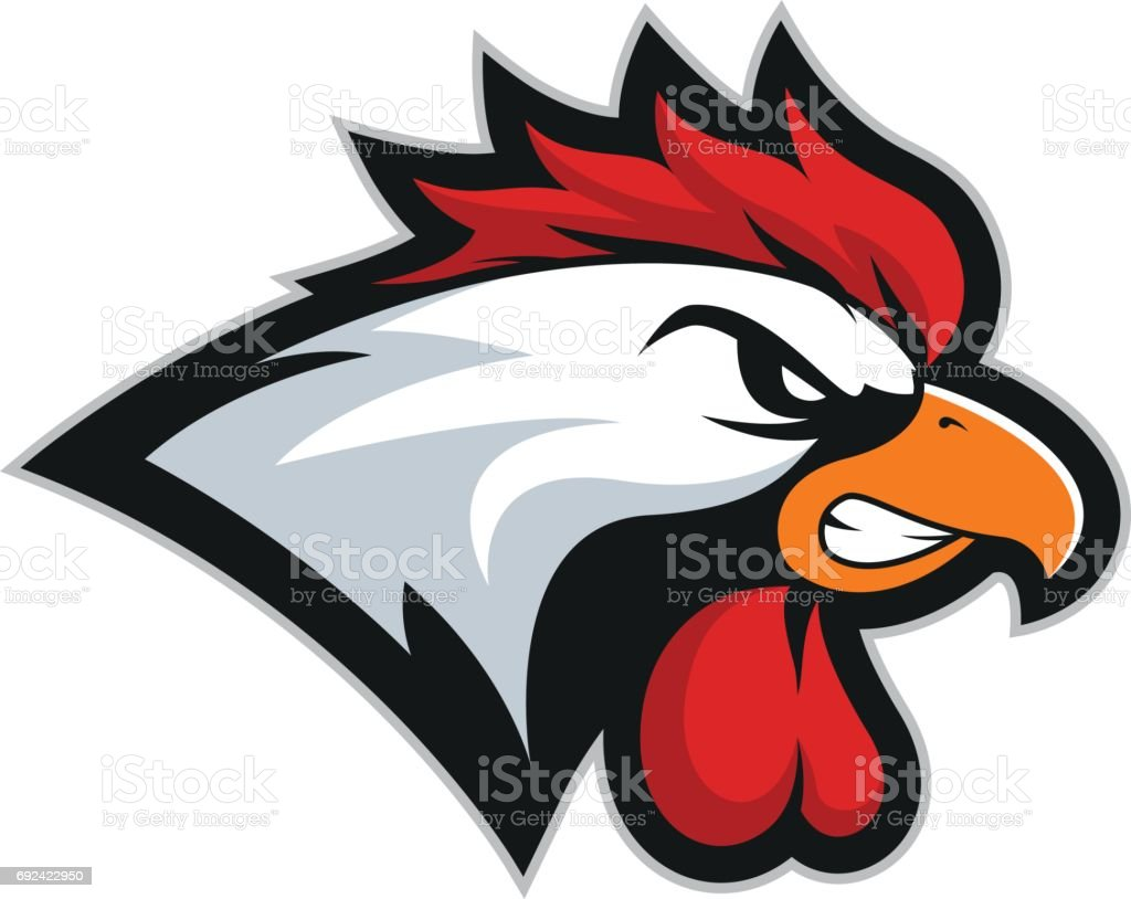 Chicken rooster head mascot 2