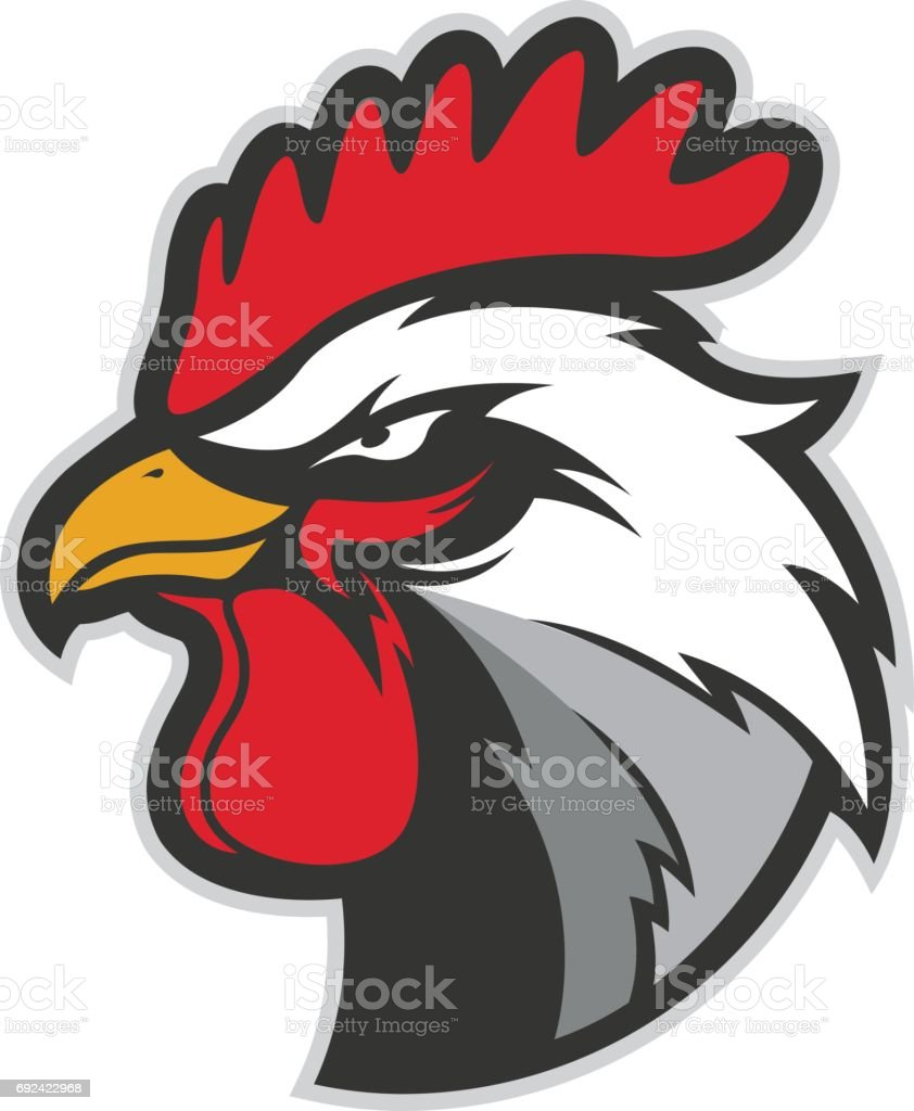 Chicken Rooster Head Mascot 5 Stock Vector Art More Images Of