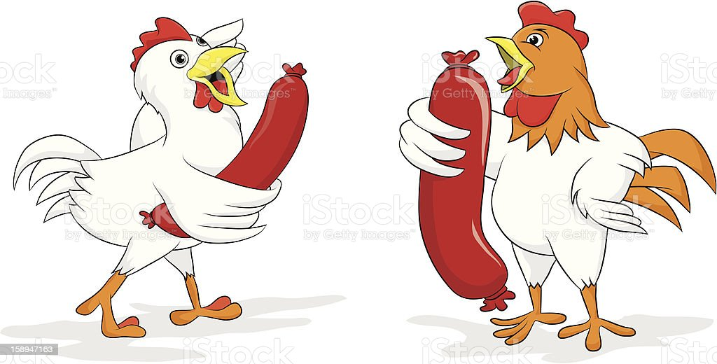 Chicken Sausage royalty-free stock vector art