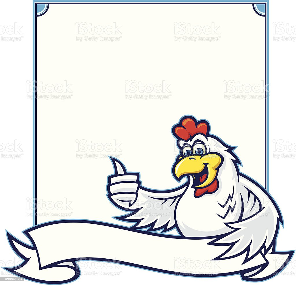Chicken Sign III royalty-free chicken sign iii stock vector art & more images of animal