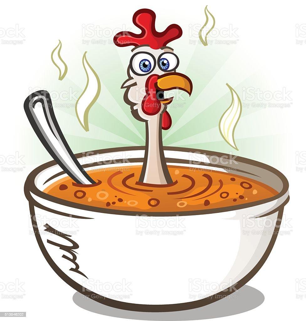 Chicken Soup Cartoon Character Stock Illustration ...