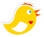 vector file of chicken sticker