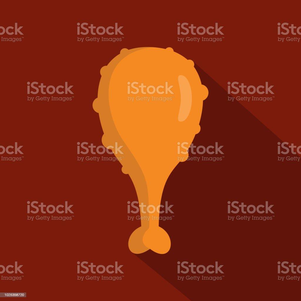 Chicken thighs icon, flat style vector art illustration