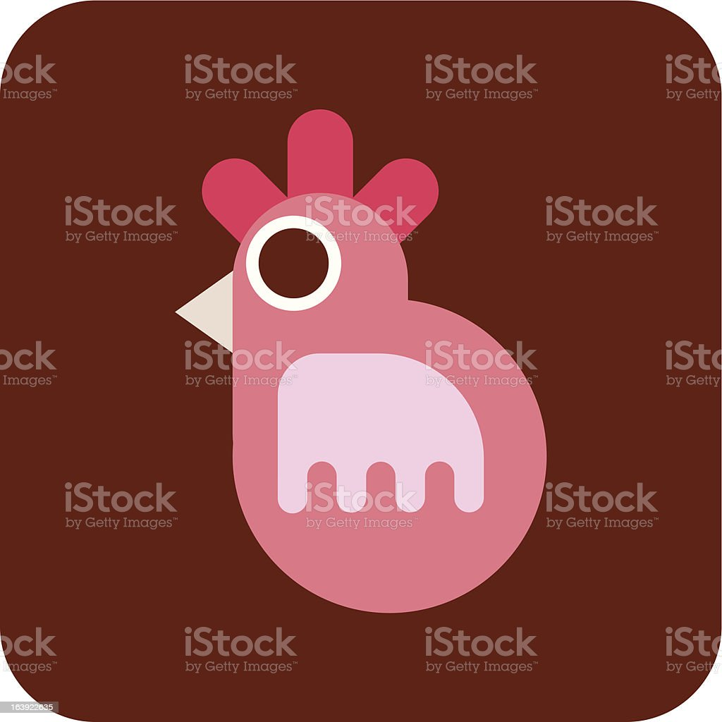 Chicken - vector icon royalty-free chicken vector icon stock vector art & more images of animal