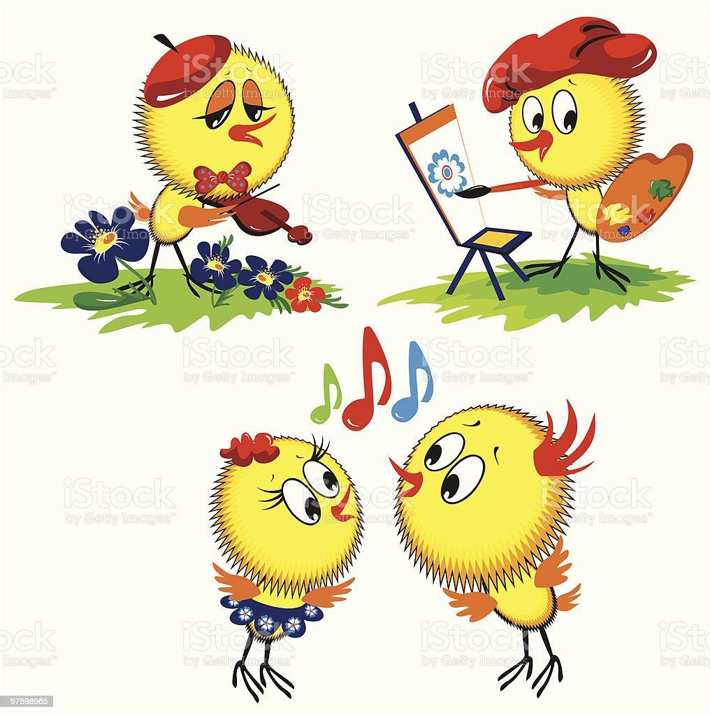 Poulet poulet – cliparts vectoriels et plus d'images de chanter libre de droits