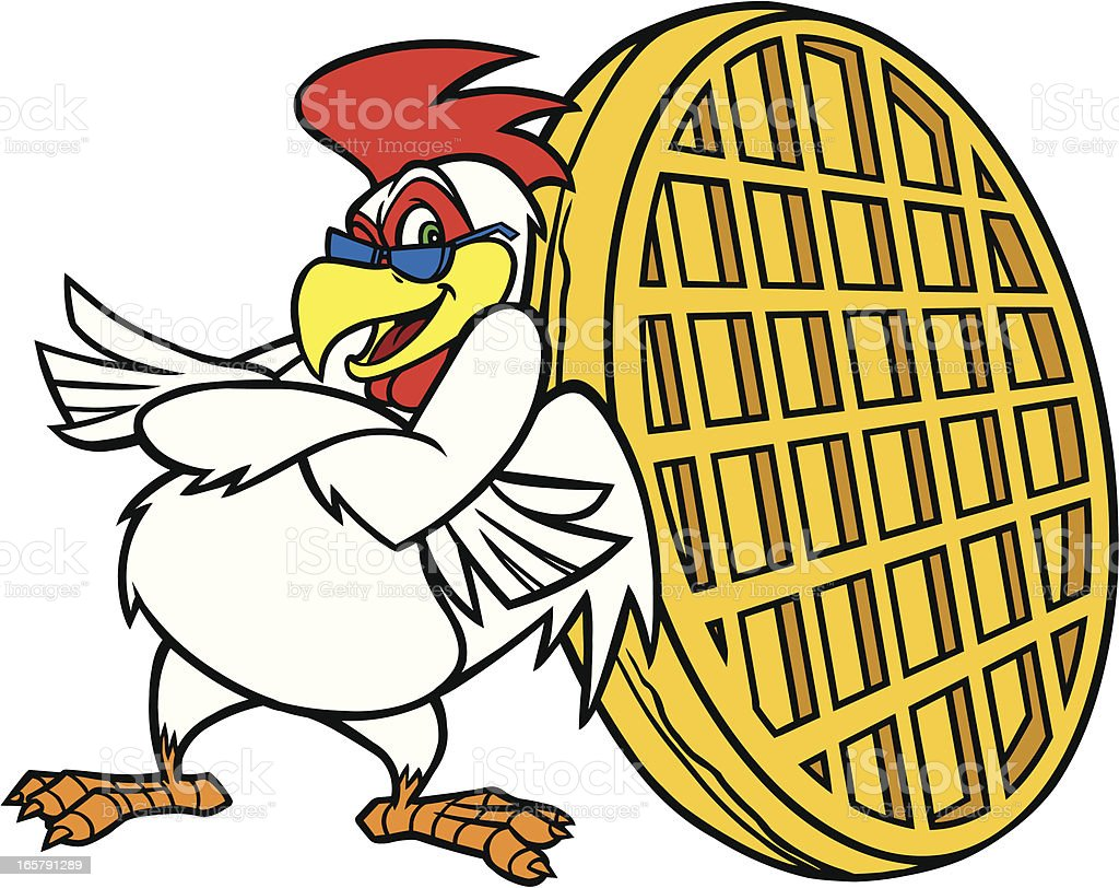 Chicken Waffle Mascot royalty-free stock vector art