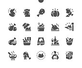 istock Chicken Well-crafted Pixel Perfect Vector Solid Icons 30 2x Grid for Web Graphics and Apps. Simple Minimal Pictogram 1257727192