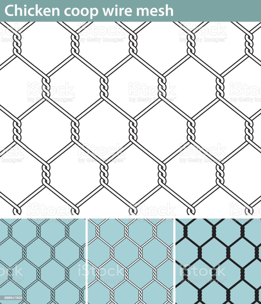 Chicken Wire New Stock Vector Art & More Images of Abstract ...