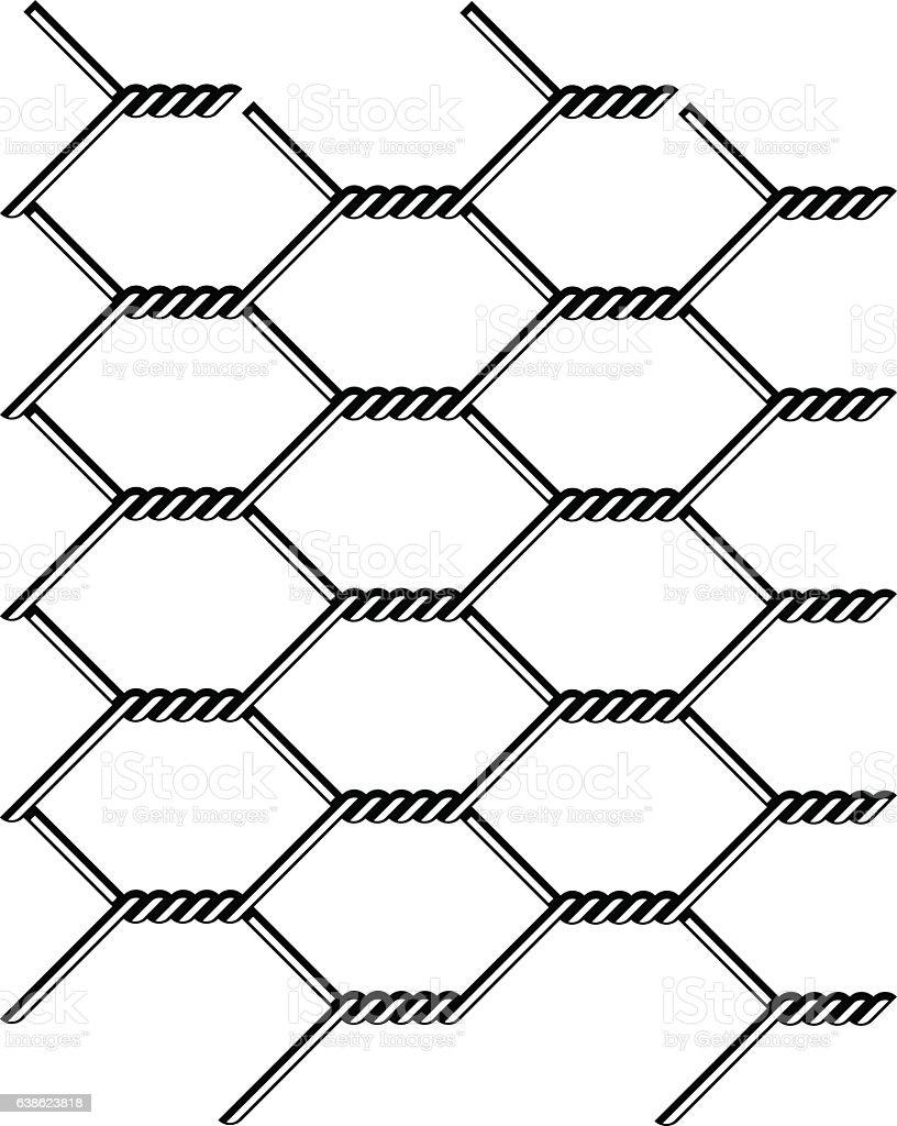 Chicken Wire Seamless Black Silhouette Stock Vector Art & More ...