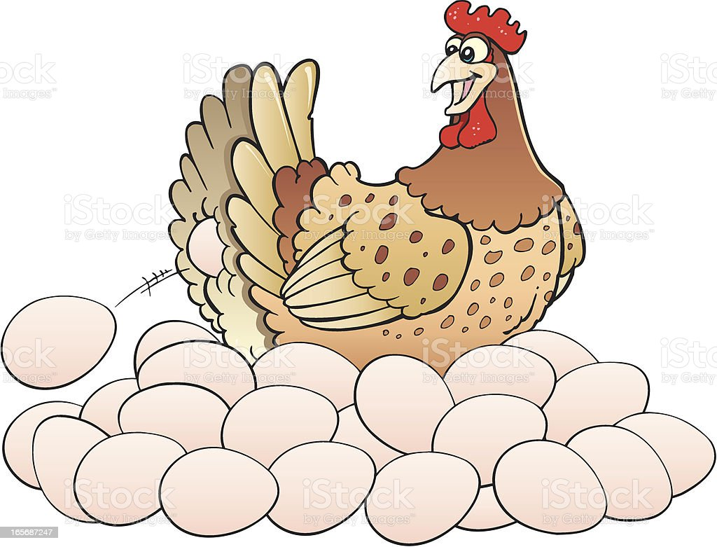 Chicken With Eggs Stock Illustration - Download Image Now ...
