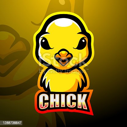istock Chicks mascot esport illustration 1288736647