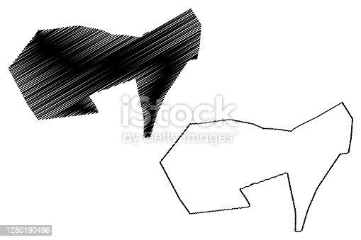 istock Chiclayo City (Republic of Peru, Department of Lambayeque) map vector illustration, scribble sketch City of Santa María de los Valles de Chiclayo map 1280190496