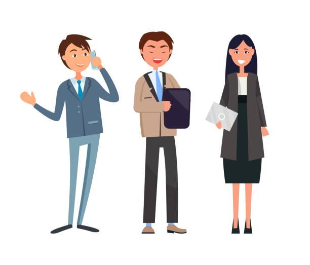 ilustrações de stock, clip art, desenhos animados e ícones de chief executive, ceo making strategy of company - senior business woman tablet