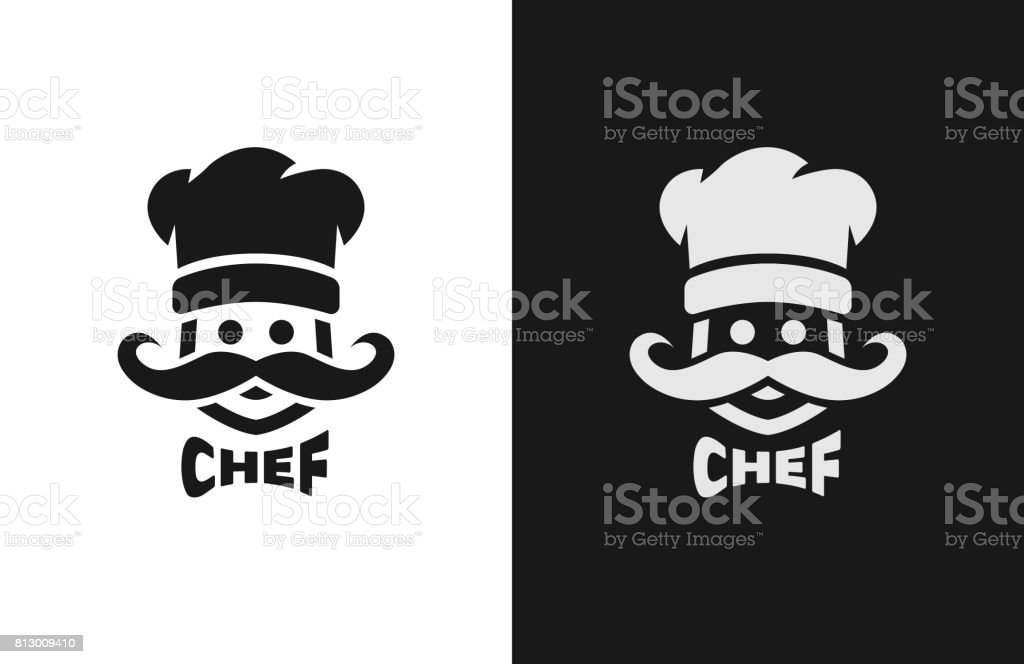 Chief monochrome , two versions. vector art illustration