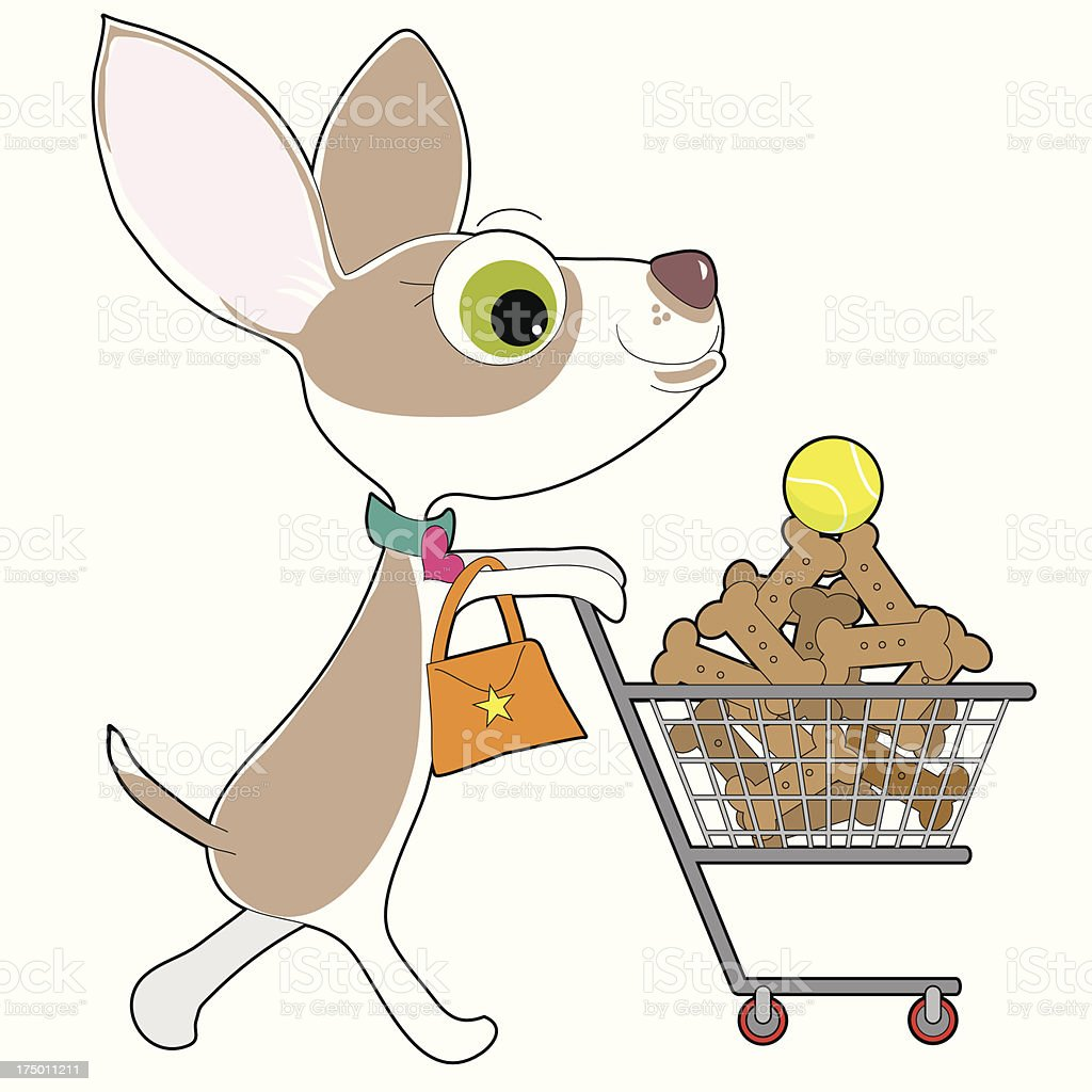 Chihuahua Shopping royalty-free stock vector art