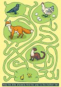 Chikens and Hen Maze Game