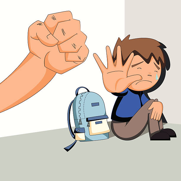 child abuse, bullying, harassment - child abuse stock illustrations