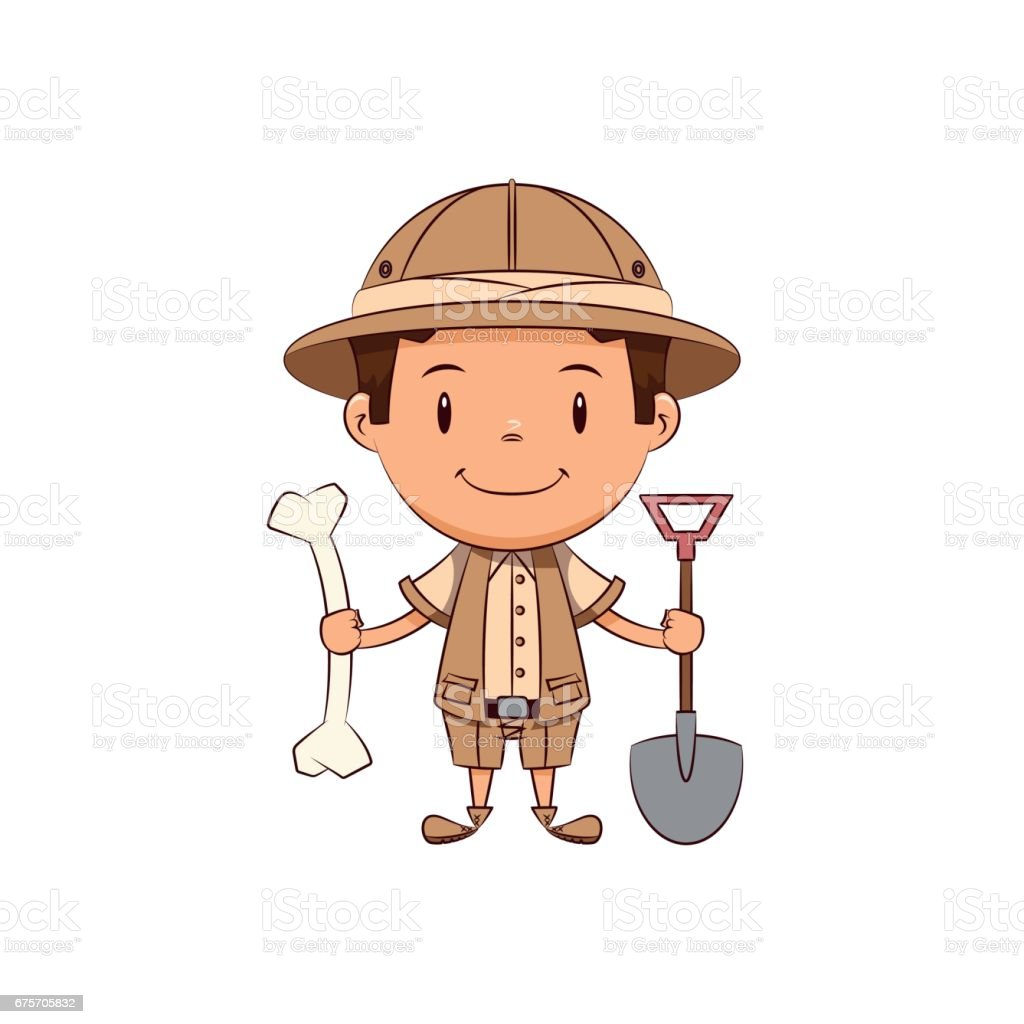 royalty free archaeologist clip art vector images illustrations rh istockphoto com Archaeologist Digging Archaeologist Cartoon