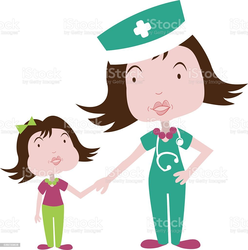 Child at hospital whith a nurse or doctor royalty-free child at hospital whith a nurse or doctor stock vector art & more images of accidents and disasters