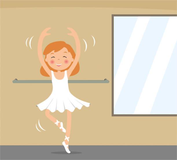 kinderballerina tanzen - puppenkurse stock-grafiken, -clipart, -cartoons und -symbole
