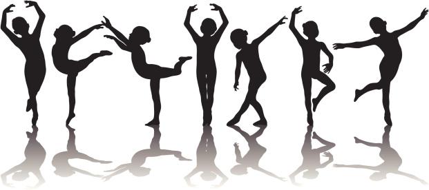 Child Ballerina Silhouettes