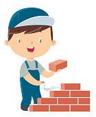 Child bricklayer