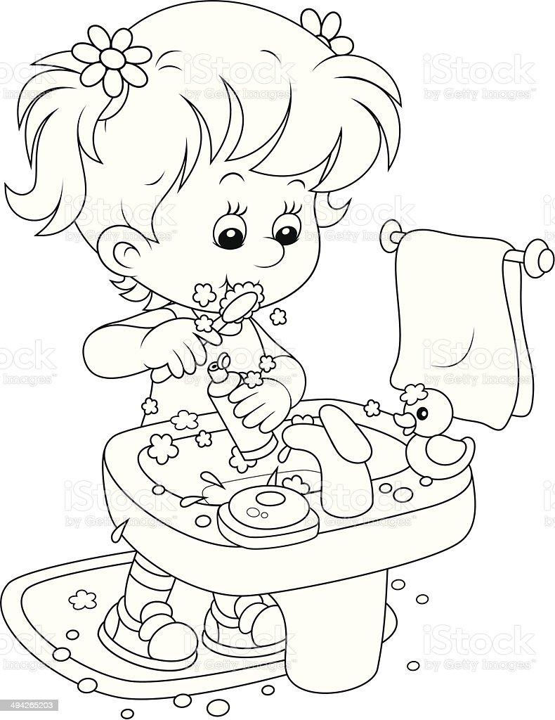 Ilustración De Niño De Lavarse Los Dientes Y Más Vectores Libres De