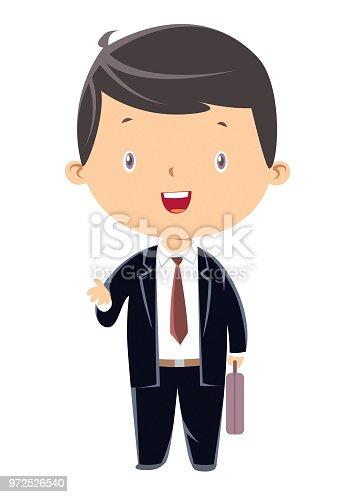 Vector child businessman
