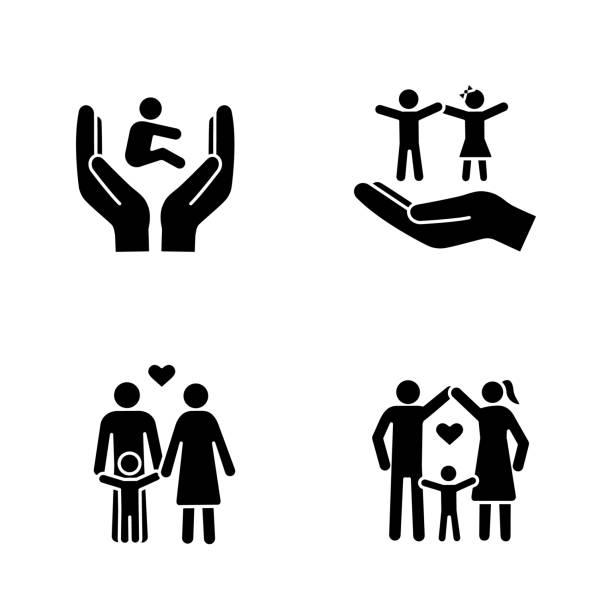 子親権グリフアイコンセット - 保育点のイラスト素材/クリップアート素材/マンガ素材/アイコン素材