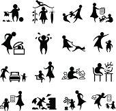Child Discipline Icon Set