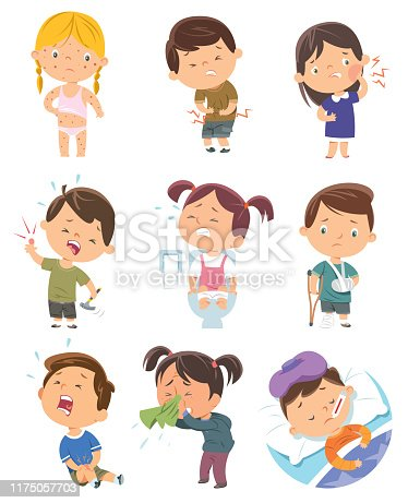 Vector Child Diseases
