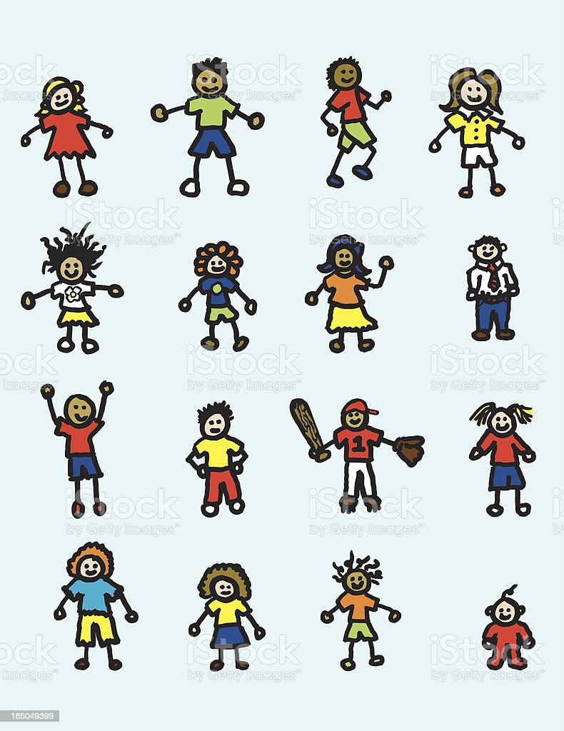 Child Drawings royalty-free stock vector art