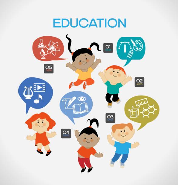 child education vector art illustration