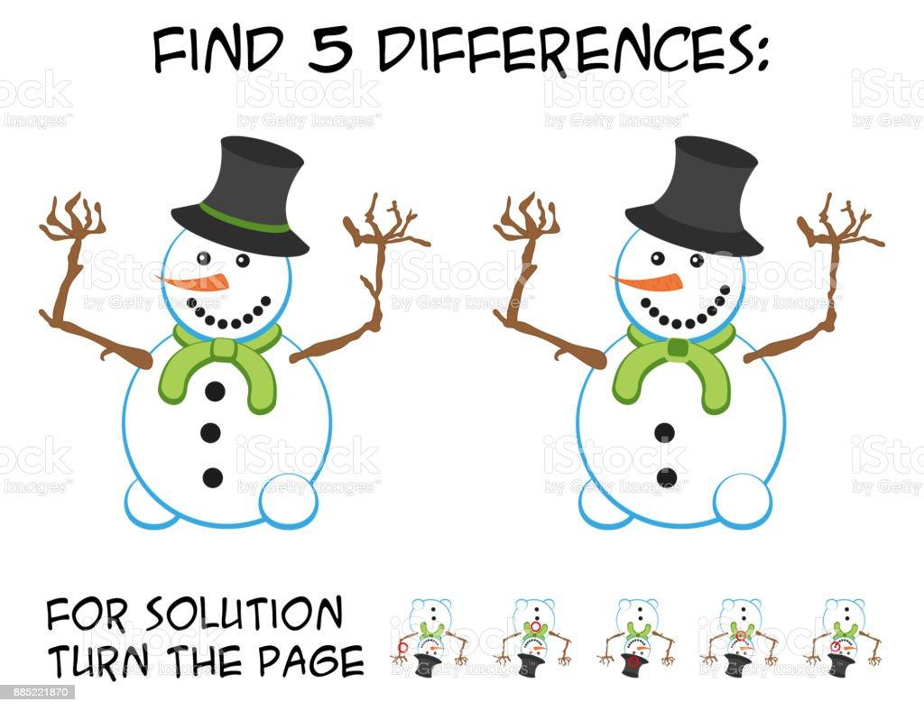 Ilustración de Juego De Niños Buscar 5 Diferencias En Las Imágenes ...