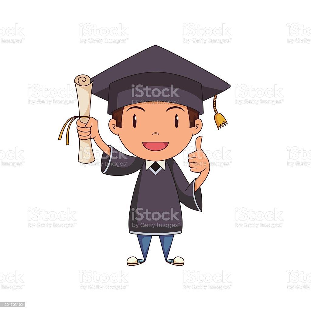 Kind Absolventen Vektor Illustration 504702192 Istock