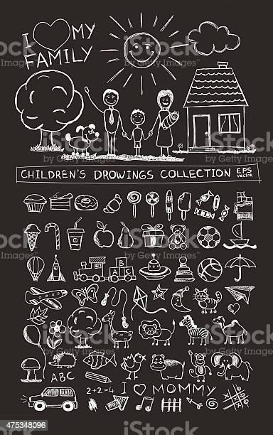 Child hand drawing illustration school blackboard sketch image vector vector id475348096?b=1&k=6&m=475348096&s=612x612&h=9hrninpiedn8jtembj5zkjokmej6tmlswqq48iolbwk=