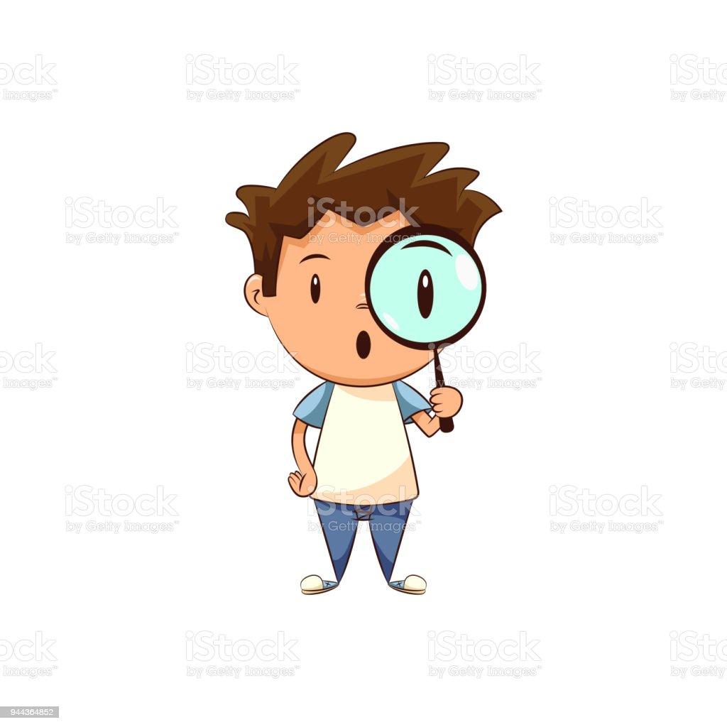 Kindholdinglupe Stock Vektor Art und mehr Bilder von Auge 944364852 ...