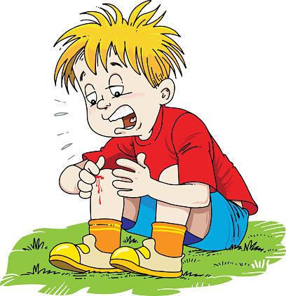 Child injured his leg